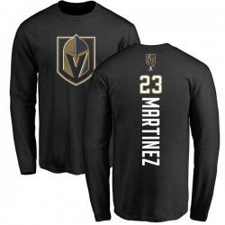 Men's Alec Martinez Vegas Golden Knights Backer Long Sleeve T-Shirt - Black