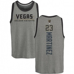 Men's Alec Martinez Vegas Golden Knights Backer Tri-Blend Tank - Heathered Gray