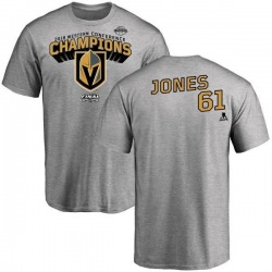 Men's Ben Jones Vegas Golden Knights 2018 Western Conference Champions Long Change T-Shirt - Heather Gray