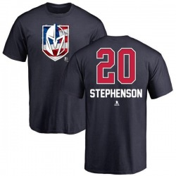Men's Chandler Stephenson Vegas Golden Knights Name and Number Banner Wave T-Shirt - Navy
