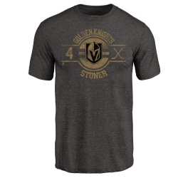 Men's Clayton Stoner Vegas Golden Knights Insignia Tri-Blend T-Shirt - Black