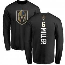 Men's Colin Miller Vegas Golden Knights Backer Long Sleeve T-Shirt - Black