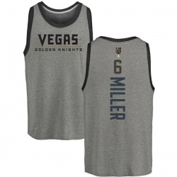Men's Colin Miller Vegas Golden Knights Backer Tri-Blend Tank - Heathered Gray