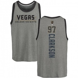 Men's David Clarkson Vegas Golden Knights Backer Tri-Blend Tank - Heathered Gray