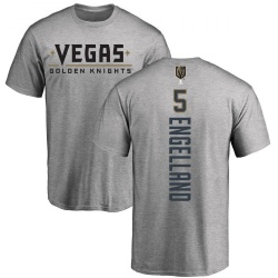 Men's Deryk Engelland Vegas Golden Knights Backer T-Shirt - Heathered Gray