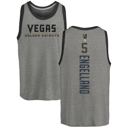 Men's Deryk Engelland Vegas Golden Knights Backer Tri-Blend Tank - Heathered Gray