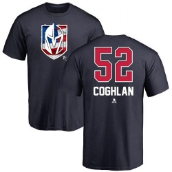 Men's Dylan Coghlan Vegas Golden Knights Name and Number Banner Wave T-Shirt - Navy