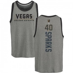 Men's Garret Sparks Vegas Golden Knights Backer Tri-Blend Tank - Heathered Gray