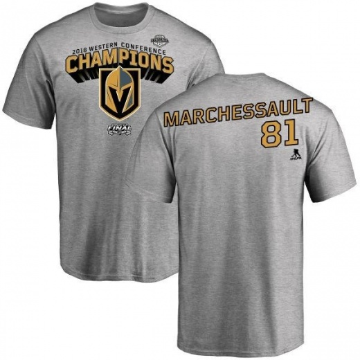 on sale c02eb 07a49 Men's Jonathan Marchessault Vegas Golden Knights 2018 Western Conference  Champions Long Change T-Shirt - Heather Gray