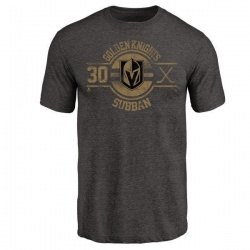 Men's Malcolm Subban Vegas Golden Knights Insignia Tri-Blend T-Shirt - Black