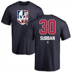 Men's Malcolm Subban Vegas Golden Knights Name and Number Banner Wave T-Shirt - Navy