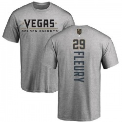 Men's Marc-Andre Fleury Vegas Golden Knights Backer T-Shirt - Heathered Gray