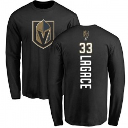 Men's Maxime Lagace Vegas Golden Knights Backer Long Sleeve T-Shirt - Black