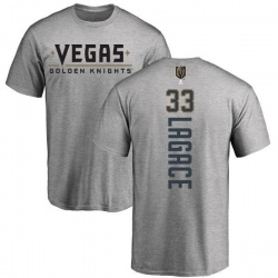 Men's Maxime Lagace Vegas Golden Knights Backer T-Shirt - Heathered Gray
