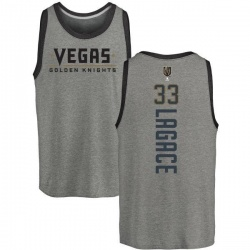 Men's Maxime Lagace Vegas Golden Knights Backer Tri-Blend Tank - Heathered Gray