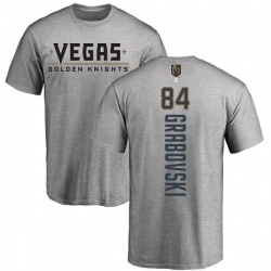 Men's Mikhail Grabovski Vegas Golden Knights Backer T-Shirt - Heathered Gray