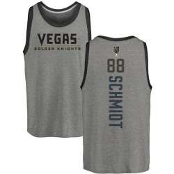 Men's Nate Schmidt Vegas Golden Knights Backer Tri-Blend Tank - Heathered Gray