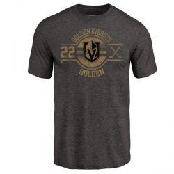 Men's Nick Holden Vegas Golden Knights Insignia Tri-Blend T-Shirt - Black