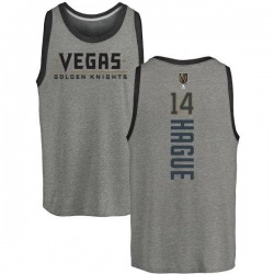 Men's Nicolas Hague Vegas Golden Knights Backer Tri-Blend Tank - Heathered Gray