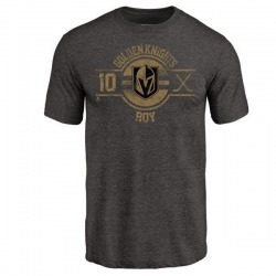 Men's Nicolas Roy Vegas Golden Knights Insignia Tri-Blend T-Shirt - Black