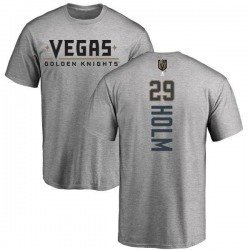 Men's Philip Holm Vegas Golden Knights Backer T-Shirt - Heathered Gray