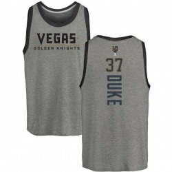 Men's Reid Duke Vegas Golden Knights Backer Tri-Blend Tank - Heathered Gray