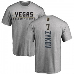 Men's Valentin Zykov Vegas Golden Knights Backer T-Shirt - Heathered Gray