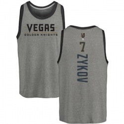 Men's Valentin Zykov Vegas Golden Knights Backer Tri-Blend Tank - Heathered Gray