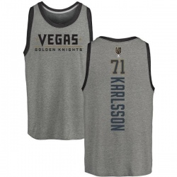 Men's William Karlsson Vegas Golden Knights Backer Tri-Blend Tank - Heathered Gray
