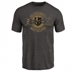 Men's Zach Whitecloud Vegas Golden Knights Insignia Tri-Blend T-Shirt - Black