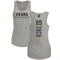 Women's Alex Tuch Vegas Golden Knights Backer Tri-Blend Tank - Heathered Gray