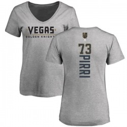 Women's Brandon Pirri Vegas Golden Knights Backer Slim Fit V-Neck T-Shirt - Heathered Gray