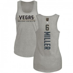 Women's Colin Miller Vegas Golden Knights Backer Tri-Blend Tank - Heathered Gray