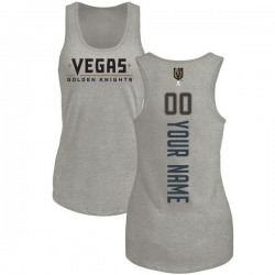 Women's Custom Vegas Golden Knights Custom Backer Tri-Blend Tank - Heathered Gray