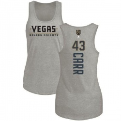 Women's Daniel Carr Vegas Golden Knights Backer Tri-Blend Tank - Heathered Gray