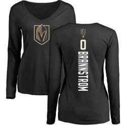 Women's Erik Brannstrom Vegas Golden Knights Backer Slim Fit Long Sleeve T-Shirt - Black
