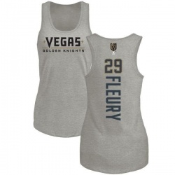 Women's Marc-Andre Fleury Vegas Golden Knights Backer Tri-Blend Tank - Heathered Gray