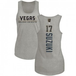 Women's Nick Suzuki Vegas Golden Knights Backer Tri-Blend Tank - Heathered Gray