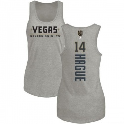 Women's Nicolas Hague Vegas Golden Knights Backer Tri-Blend Tank - Heathered Gray