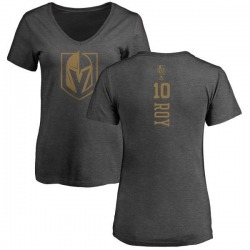 Women's Nicolas Roy Vegas Golden Knights Charcoal One Color Backer T-Shirt