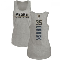 Women's Oscar Dansk Vegas Golden Knights Backer Tri-Blend Tank - Heathered Gray