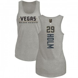 Women's Philip Holm Vegas Golden Knights Backer Tri-Blend Tank - Heathered Gray