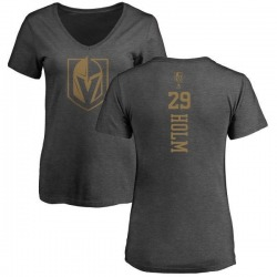 Women's Philip Holm Vegas Golden Knights Charcoal One Color Backer T-Shirt