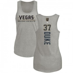 Women's Reid Duke Vegas Golden Knights Backer Tri-Blend Tank - Heathered Gray