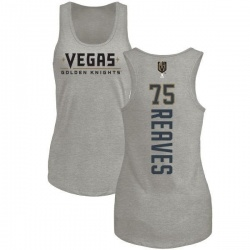 Women's Ryan Reaves Vegas Golden Knights Backer Tri-Blend Tank - Heathered Gray
