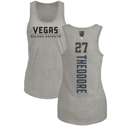 Women's Shea Theodore Vegas Golden Knights Backer Tri-Blend Tank - Heathered Gray