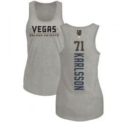 Women's William Karlsson Vegas Golden Knights Backer Tri-Blend Tank - Heathered Gray