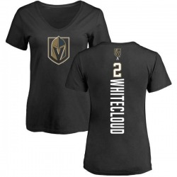 Women's Zach Whitecloud Vegas Golden Knights Backer Slim Fit V-Neck T-Shirt - Black