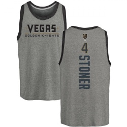 Youth Clayton Stoner Vegas Golden Knights Backer Tri-Blend Tank - Heathered Gray