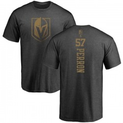 Youth David Perron Vegas Golden Knights Charcoal One Color Backer T-Shirt